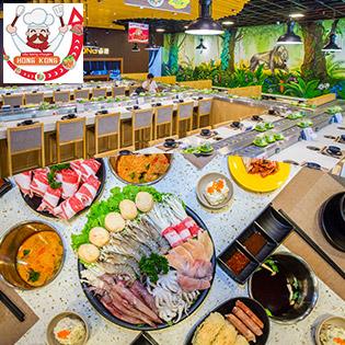 Buffet Lẩu Băng Chuyền Buổi Tối Từ Thứ 2 - Thứ 6 Tại Buffet Lẩu Băng Chuyền HongKong