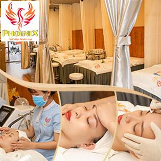 14 Bước - 120 Phút: Điều Trị Mụn Chuyên Sâu + Massage Da Mặt + Đắp Mặt Nạ + Ánh Sáng Sinh Học + Phun Oxy Tươi + Đi Tế Bào Gốc Tại Phoenix Spa