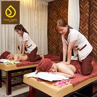 Miễn Tip - (100') Massage Body + Foot + Ngâm Chân + Đắp Mặt Nạ + Mắt + Vai, Gáy/ Chạy Vitamin C/ Hút Chì/ Ủ Trắng Mặt - Tỉnh Thức Spa