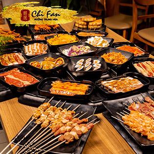 Buffet Nướng Trung Hoa Không Giới Hạn Tại ChiFan