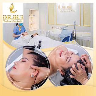 Gội Đầu Dưỡng Sinh Kết Hợp Massage Cổ Vai Gáy Tại Thẩm Mỹ Quốc Tế Dr. Bùi