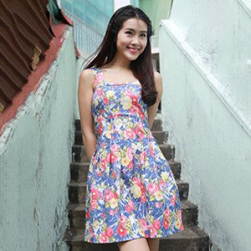 Đầm Hoa Jeans Thun