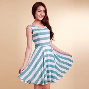 Đầm Kẻ Sọc Vintage