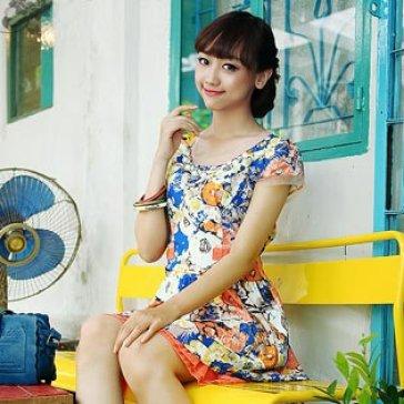Đầm Hoa Dây Đeo Ngọc Trai - Big Size