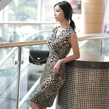 Đầm Da Beo Thanh Lịch