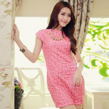 Đầm Kim Sa Hồng Cách Điệu