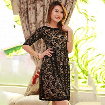 Đầm Ren Đen Size L