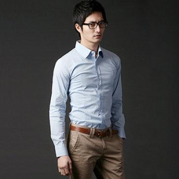 Áo Sơ Mi Nam Màu Xanh Size L