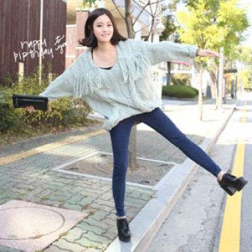 Quần Jeans Nữ Lưng Cao Hàn Quốc Size 30