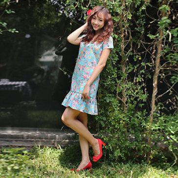 Đầm Đuôi Cá Họa Tiết Hoa
