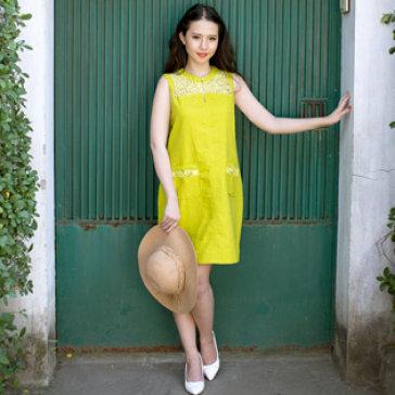 Đầm Linen Sang Trọng Size L