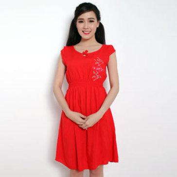 Đầm Hoa Mặc Nhà Tay Con