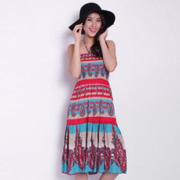 Đầm Maxi Hoa Văn Dài