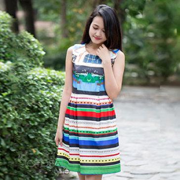 Đầm Lyly Xòe Thanh Lịch