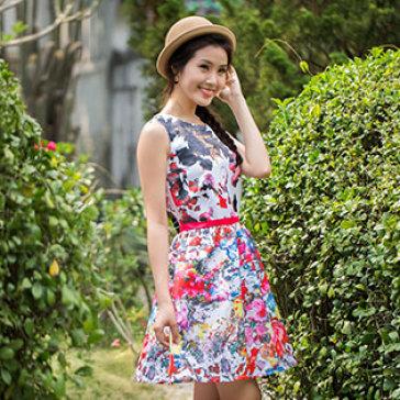 Đầm Hoa Luci Cao Cấp