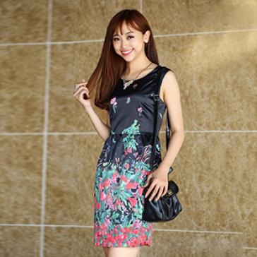Đầm Xòe Chân Váy Hoa Rực Rỡ