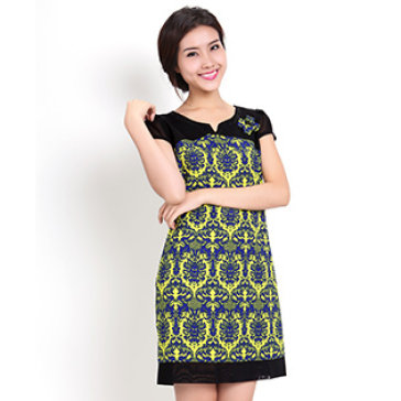 Đầm Họa Tiết Vintage Form Suông Sang Trọng - Size L