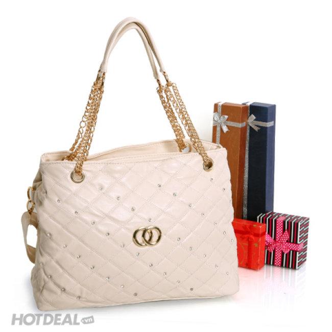 Túi Xách Đính Hạt Phong Cách Chanel
