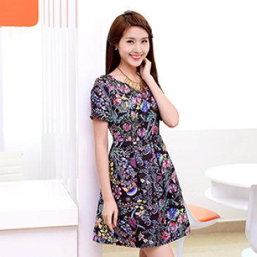 Đầm Hoa Chân Váy Xòe Mùa Xuân