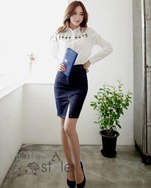 Chân Váy Denim Fashion Màu Xanh Đen