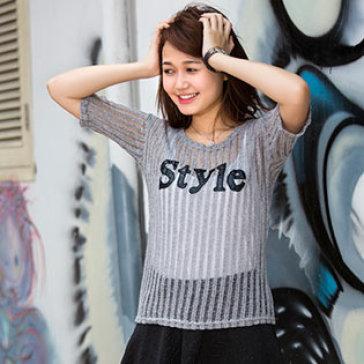 Áo Lưới Dệt Kim Style