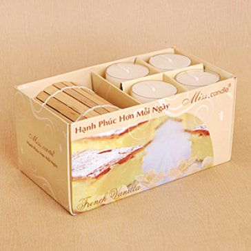 Hộp Nến Thơm Bamboo Tealight Miss Candle