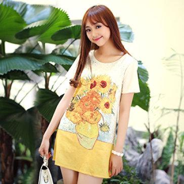 Đầm Suông Hoa Sun Flower