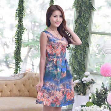 Đầm Kaki Hoa Sơn Dầu