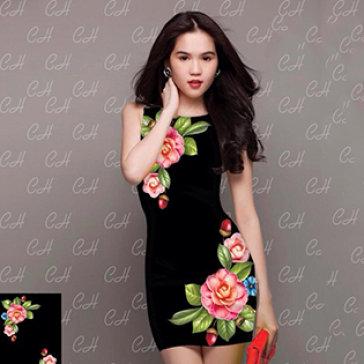 Đầm Hoa 3D Thanh Lịch