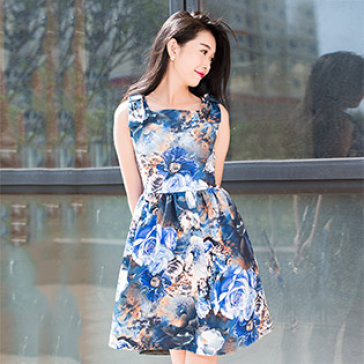 Đầm Hoa Vintage Hoa Tranh