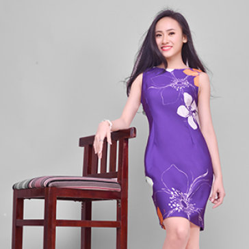 Đầm In Họa Tiết Cao Cấp HD01- BST Hè 2015