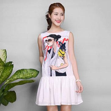 Đầm In Color Summer