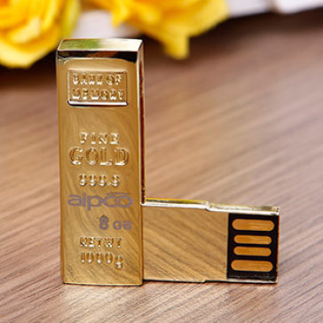 USB Aipoo 8GB Gold LD 1002 Mạ Vàng