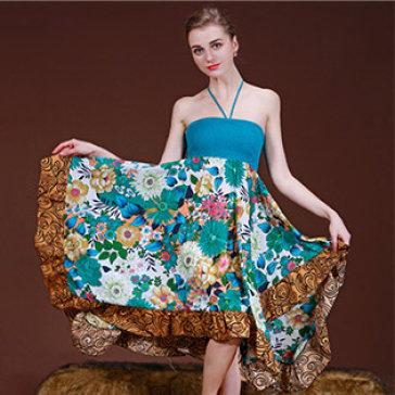Đầm Maxi Hoa Mùa Thu