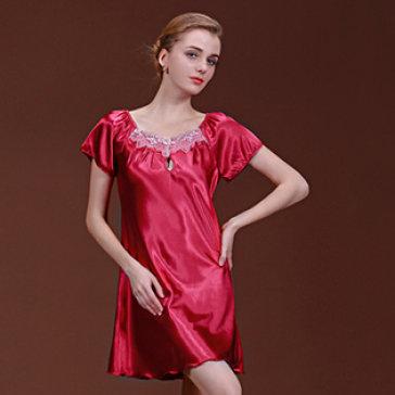 Đầm Ngủ Phi Lụa Phối Ren Cao Cấp