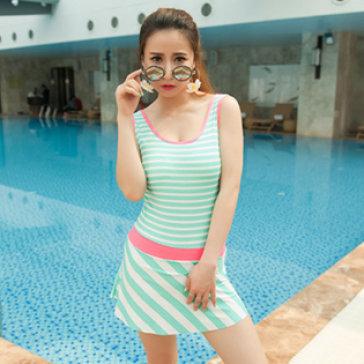 Bộ Đồ Bơi Sọc Liền Váy