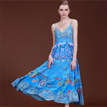Đầm Maxi Hai Dây Gợi Cảm