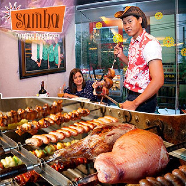 Buffet samba brazilian free n c kem mua 5 t ng 1 for Samba buffet