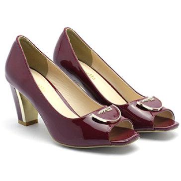 Giày Cao Gót Nữ Đế Vuông Cindyrella F6
