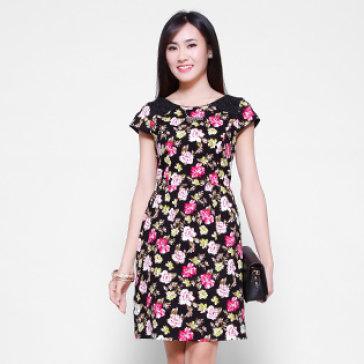 Đầm Hoa Phối Ren Cao Cấp