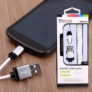 Cáp Sạc Micro USB Dạng Xoắn Cho Smartphone Và Tablet - TMCA-04
