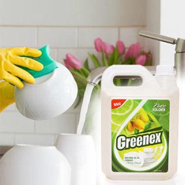 Nước Rửa Chén 5L Greenex Viet Nam Diệt Sạch 99.9 % Vi Khuẩn - Tiết Kiệm Cho Gia Đình
