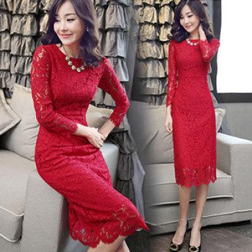 Đầm Ren Hoa Form Dài Thời Trang Cao Cấp