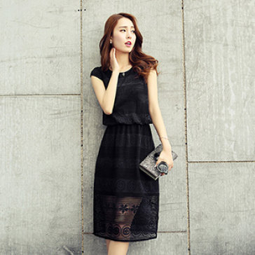 Đầm Ren Hoa  Kiểu Dáng Hàn Quốc Cao Cấp