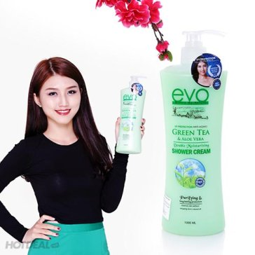 Sữa Tắm Green Tea - Trà Xanh Và Lô Hội Nhập Khẩu Malaysia 1000ml