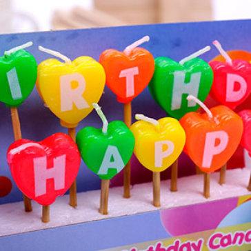 Bộ 13 Cây Nến Sinh Nhật Chữ Happybirthday UBL (SC0082)