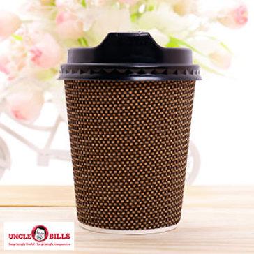 """Bộ 10 Ly Nhựa Có Nắp Kiểu """"Cafe Mang Đi"""" UBL (KD0381)"""