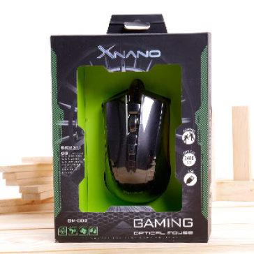 Chuột Quang XNano Gaming GM-002 (Đen) - BH 12 Tháng