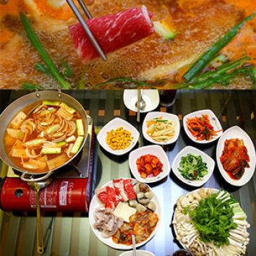 Lẩu Nấm Hải Sản Hàn Quốc + 02 Ly Coca/ Nước Cam Cho 2-4 Người Tại NH Hàn Quốc Chi Ri San