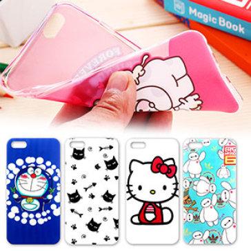 Ốp Dẻo Siêu Mỏng Hoạt Hình Dành Cho Iphone 4, 4S, 5, 5S, 6, 6+